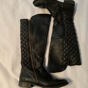 Steve Madden Quilted Leather Boots
